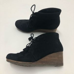 Dr. Scholl's Shoes - Dr Scholl's Black Wedge Tassel Ankle Boots